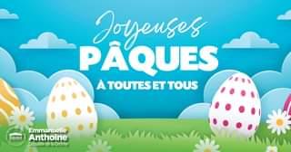 Joyeuses Pâques à toutes et tous ! Une pensée pour ceux qui sont seuls ou séparé