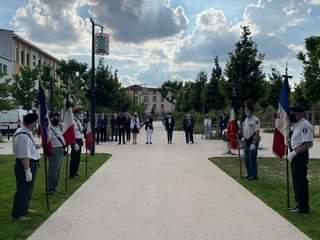 Cérémonie à ROMANS SUR ISERE, en hommage aux morts pour la France en Indochine.